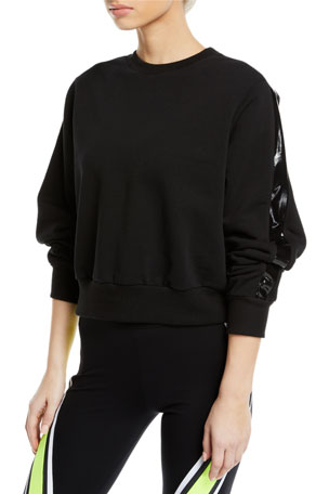 No Ka Oi Ike Cropped Side-Stripe Pullover Sweatshirt