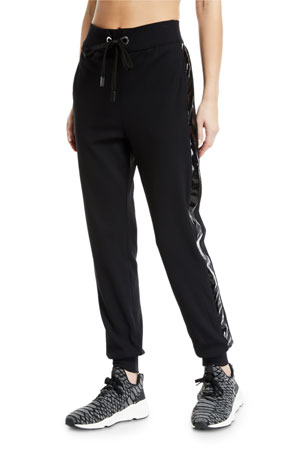 No Ka Oi Kana Drawstring Jogger Track Pants with Racer Stripes