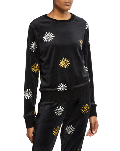 x Margherita Velour Daisy Sweatshirt