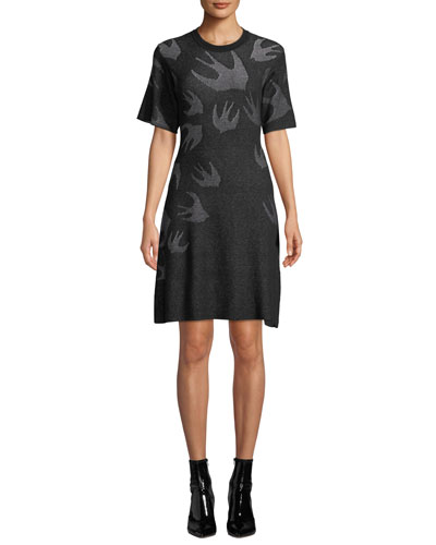 Swallow Pointelle Sweater Dress
