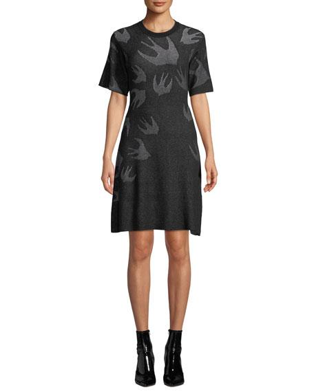 McQ Alexander McQueen Swallow Pointelle Sweater Dress