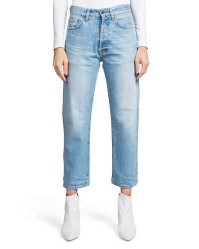Super Relaxed Crop Straight-Leg Boyfriend Jeans
