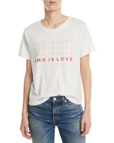 AMO Denim Amo Is Love Classic Graphic Tee