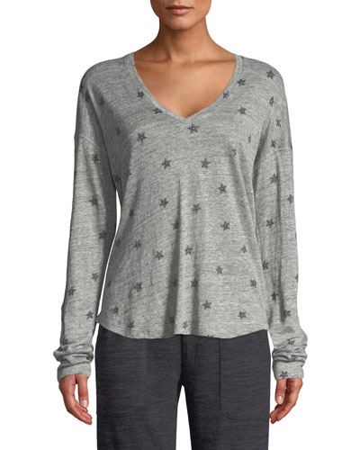 Sami Star-Print Long-Sleeve Top