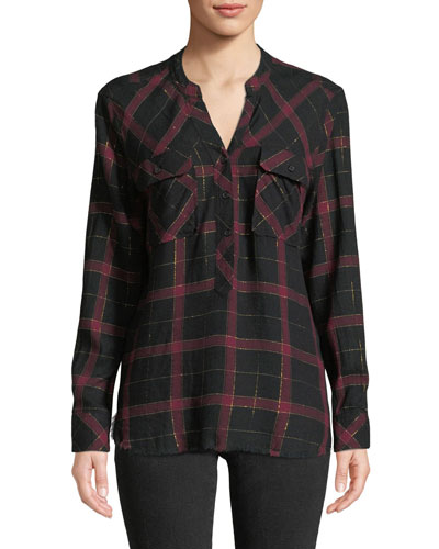 Redding Frayed Plaid Button-Down Shirt