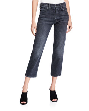 c67363962a1 MOTHER The Tomcat High-Rise Straight Cropped Jeans