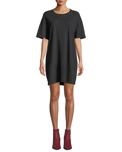 The Glitter Rock Short-Sleeve Tee Dress