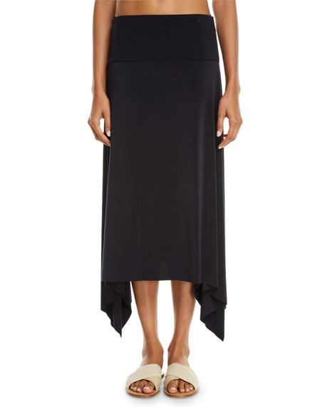 MAGICSUIT Jersey Handkerchief Coverup Skirt in Black