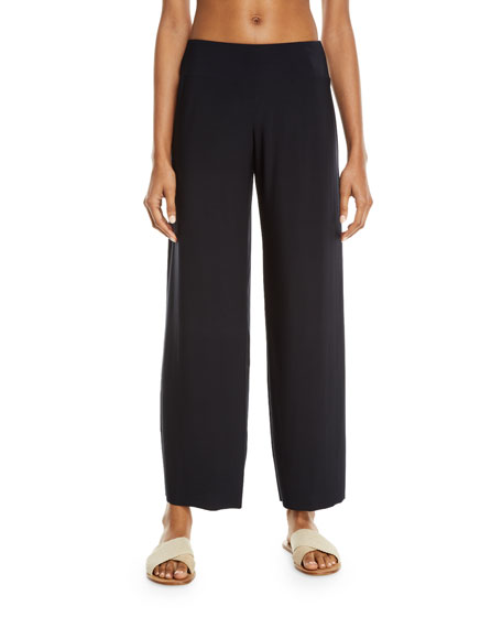 MAGICSUIT Cabana Jersey Straight-Leg Coverup Pants in Black