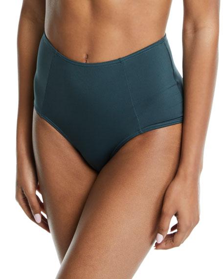 MEI L'ANGE Aurora High-Waist Bikini Swim Bottoms in Green