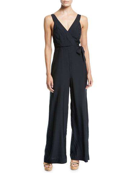 Jess Gomes Sleeveless Coverup Jumpsuit in Black