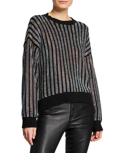 Emmett Embellished Cotton Pullover Sweater