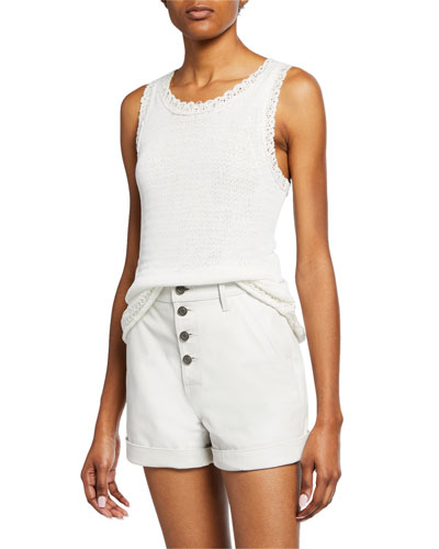 Federica Double-Layer Knit Tank