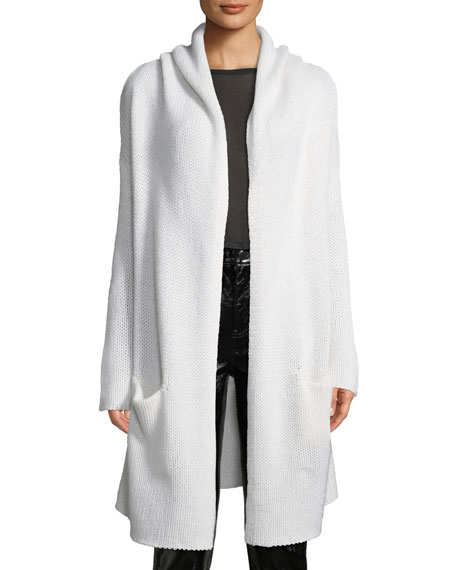 Sablyn COLLETE HOODED OPEN-FRONT LONG CARDIGAN