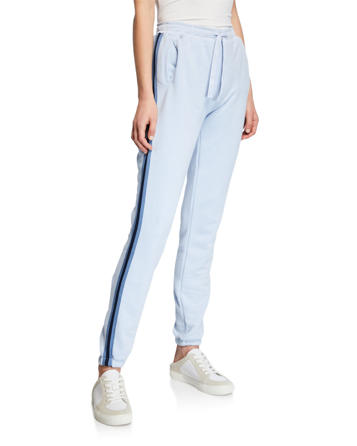 a9f12593def22 ATM Anthony Thomas MelilloSide-Stripe French Terry Pull-On Sweatpants