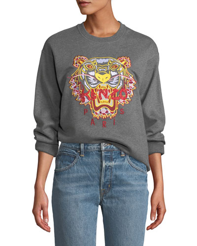 Dragon Tiger Logo Crewneck Pullover Sweatshirt