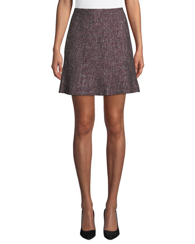 Alvara Tweed Short Skirt