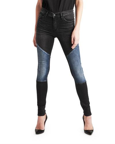 Nico Mid-Rise Super Skinny Paneled Jeans
