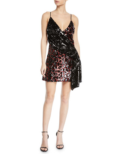 Davie Sequined Animal Mini Dress