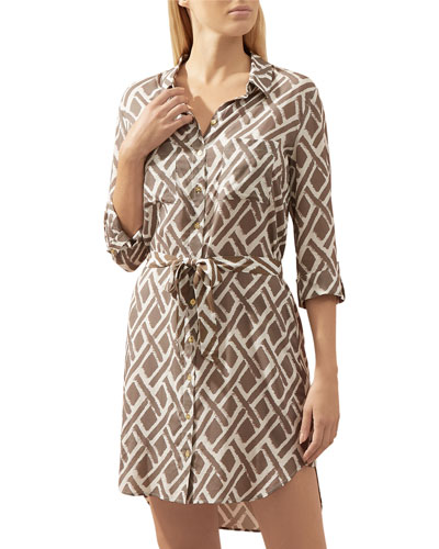 Cote D'Azur Relaxed Coverup Shirtdress