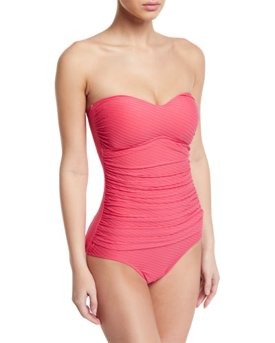Ribbons Bandeau One-Piece Swimsuit