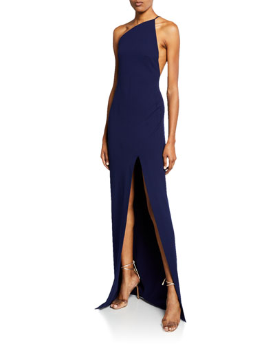 Petch One-Shoulder Maxi Dress with Thigh Split