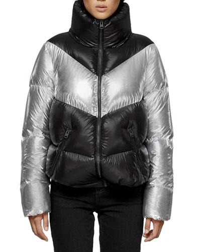 Jess Colorblock Puffer Jacket