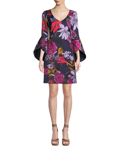 Cheers Grand Garden Bell-Sleeve Dress