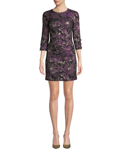 Moonrise Jacquard Mini Dress