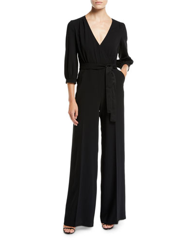 Mineral V-Neck Jumpsuit w/ Pockets