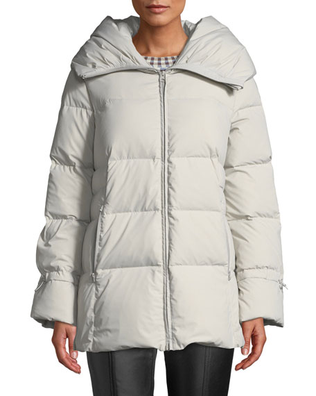 Cole Haan Soft Touch Channel-Quilt Down Jacket