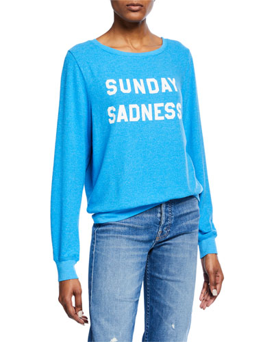 Sunday Sadness Scoop-Neck Pullover Sweater