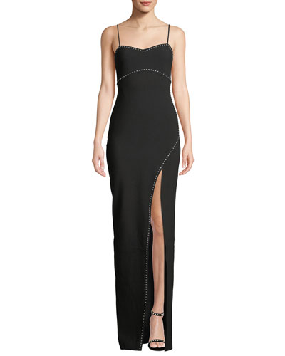 Charlene Studded Bodycon Gown