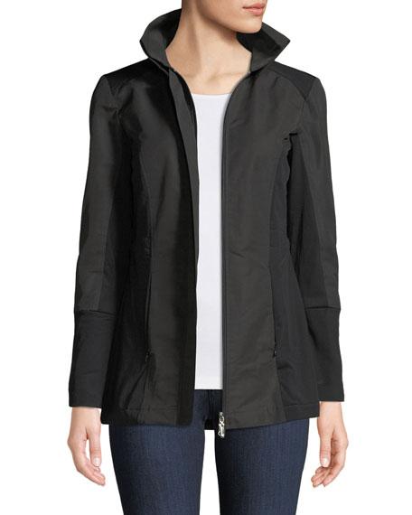 ANATOMIE City Slick Zip-Front Travel-Friendly Jacket in Black