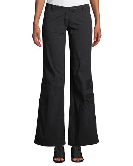 Anatomie Flare-Leg Cargo Pants w/ Zip Pockets