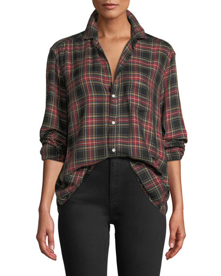 Tartan Check Long-Sleeve Button-Down Shirt