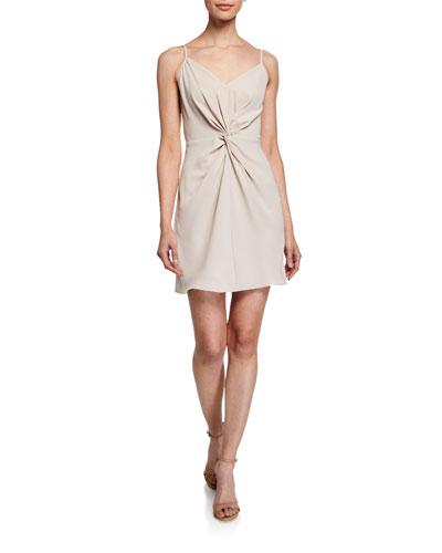 Ellie Twist-Front Slip Dress