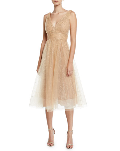Glitter Tulle Fit-&-Flare Dress