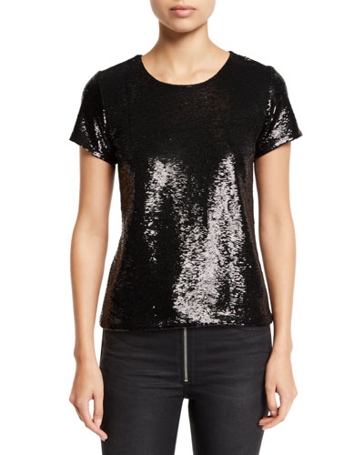 The Sequin Short-Sleeve Top