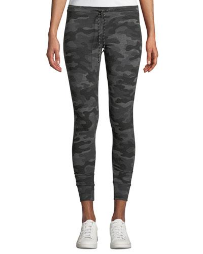 Camo-Print Drawstring Sweatpants