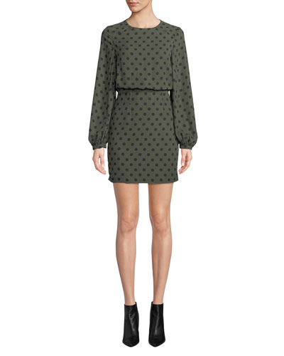 The Rivera Polka Dot Long-Sleeve Dress
