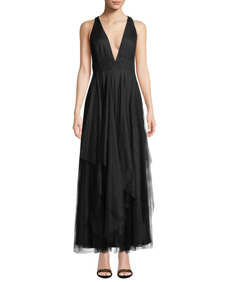 Fame and Partners The Lana V-Neck Tulle Dress