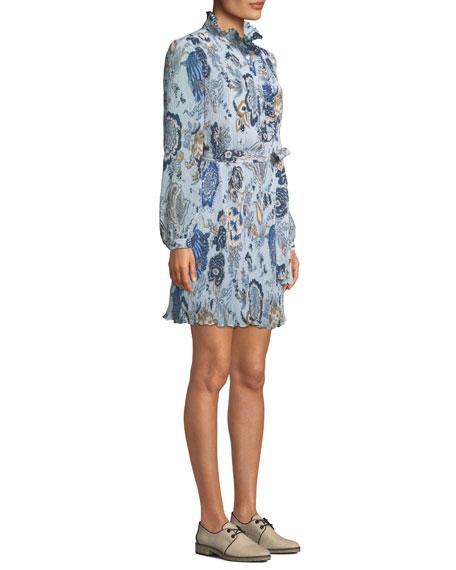 Tory Burch Mel High-Neck Paisley Dress