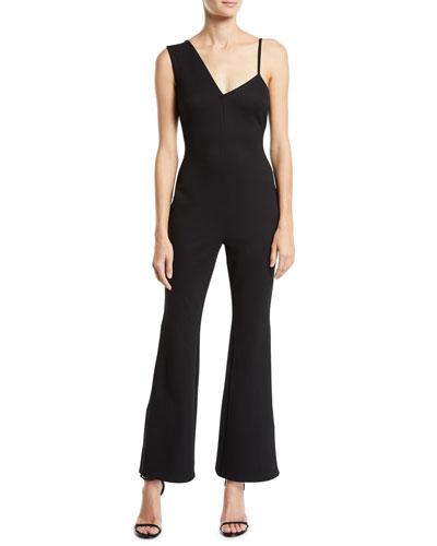 Pipin Sleeveless Asymmetric Zip-Hem Jumpsuit