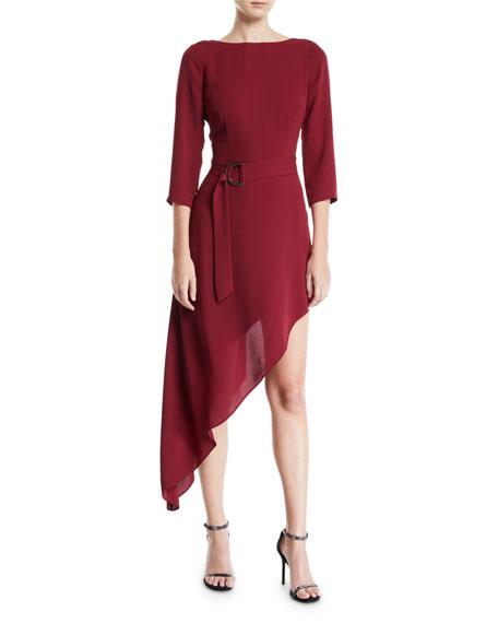 Donna Mizani IVA ASYMMETRIC BELTED DRESS