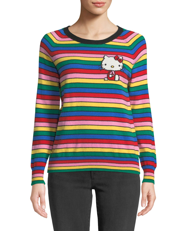 con iris Hello y Chinti de cashmere Suéter Parkerx arco rayas de a Kitty xYI4q