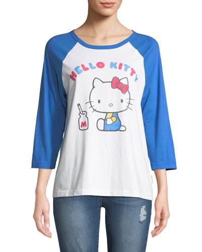 x Hello Kitty Graphic Baseball Tee
