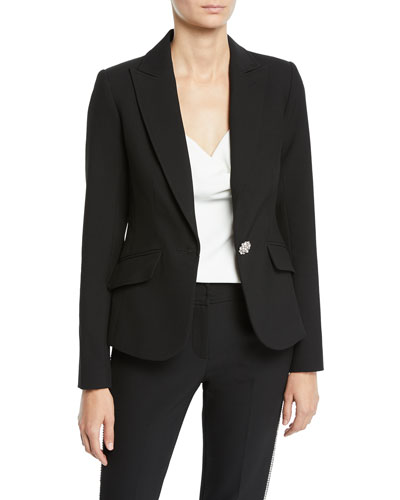 Gala Double Luxe Crystal-Button Jacket