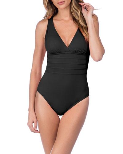 Island Goddess Strappy-Back One-Piece Swimsuit