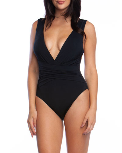 Getaway Wrap-Front One-Piece Swimsuit
